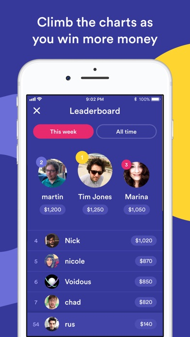 Screenshot of HQ Trivia App