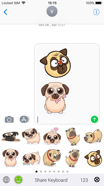 PugsEMOJI - Pug Emoji Keyboard screenshot-2