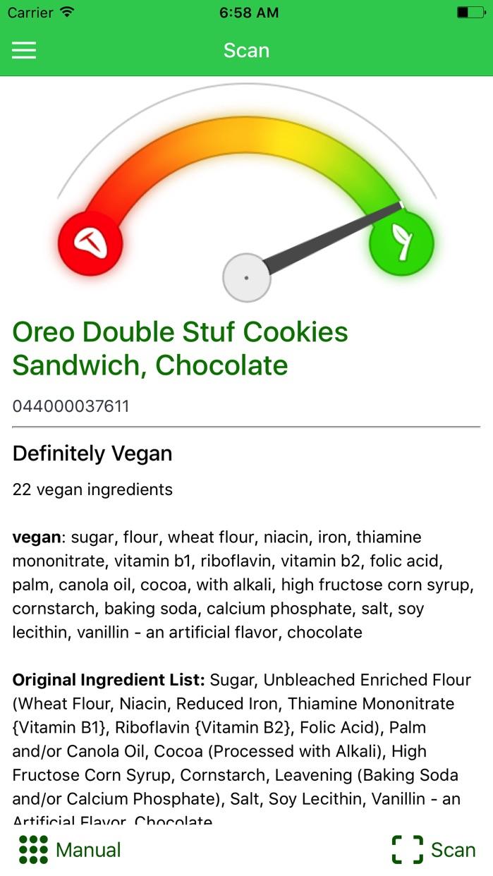 Is It Vegan? Screenshot