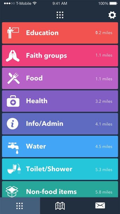 RefAid - Refugee Aid App