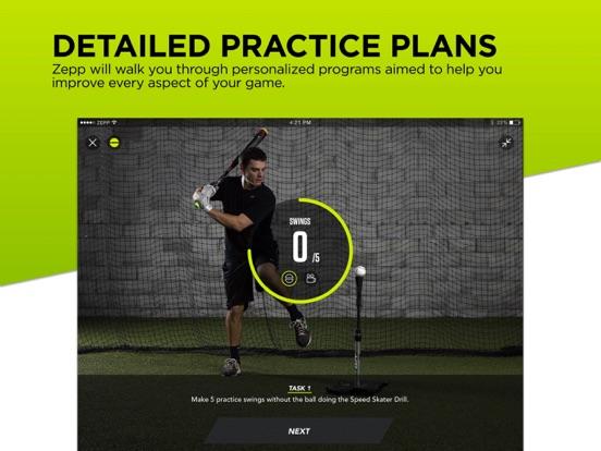 Zepp Baseball & Softball Swing Analyzer screenshot