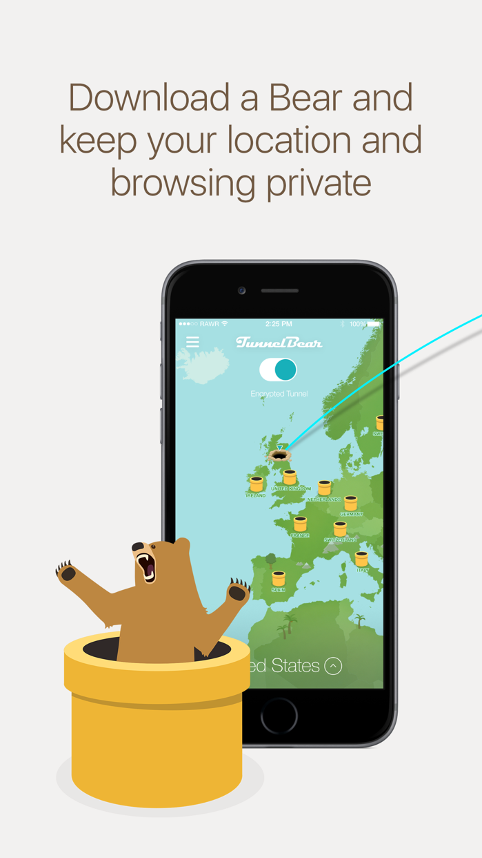 TunnelBear VPN & Wifi Proxy Screenshot