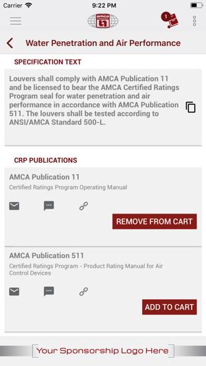 AMCA Spec on the App Store