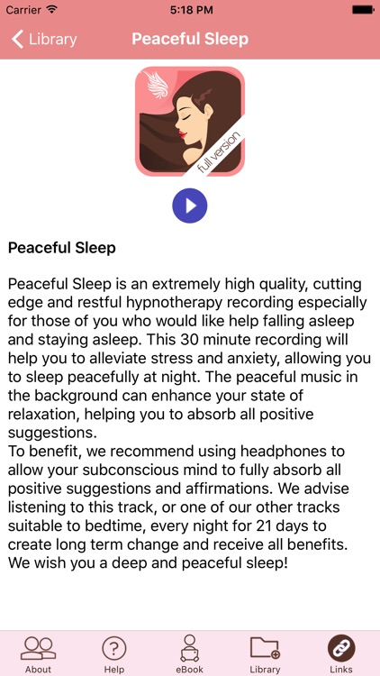 Peaceful Sleep Hypnosis Full Version screenshot-3