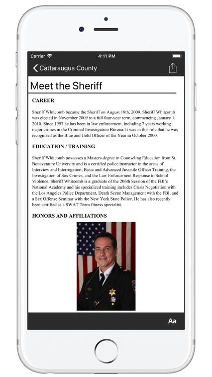 Cattaraugus County NY Sheriff screenshot-3