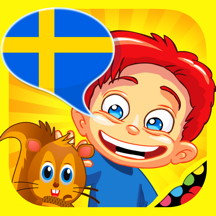 Swedish for kids: play, learn and discover the world - children learn a language through play activities: fun quizzes, flash card games and puzzles