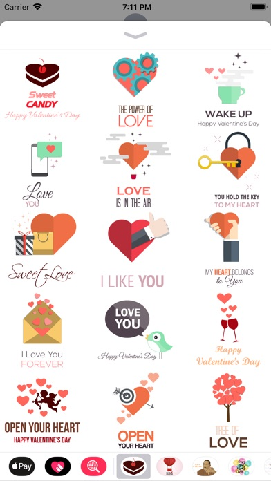 Love Message - Flat Stickers screenshot 2