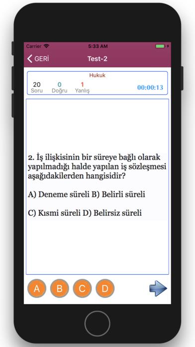 işyeri Hekimliği Sınavı screenshot three