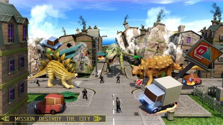Wild Dino City Attack screenshot-3