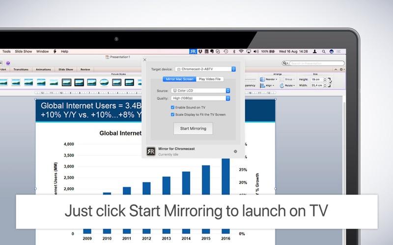 Mirror for Chromecast Screenshots