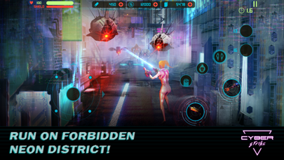 Cyber Strike - Infinite Runner screenshot one