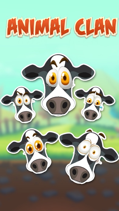 Animal Clan Cow Stickers screenshot one