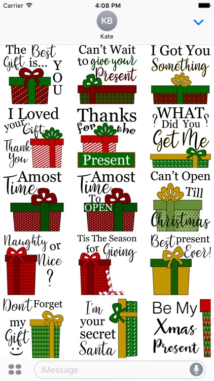 Christmas Presents Stickers