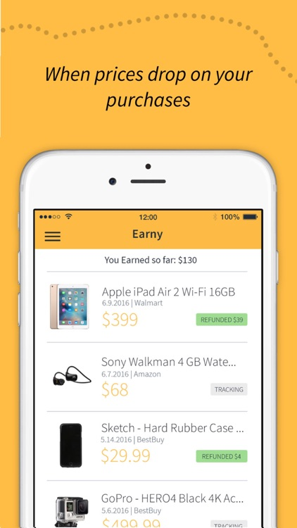 Earny: Automatic Money Back