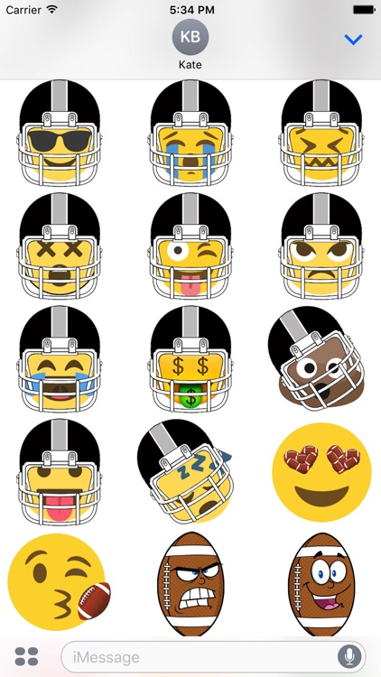 Oakland Football Sticker Pack