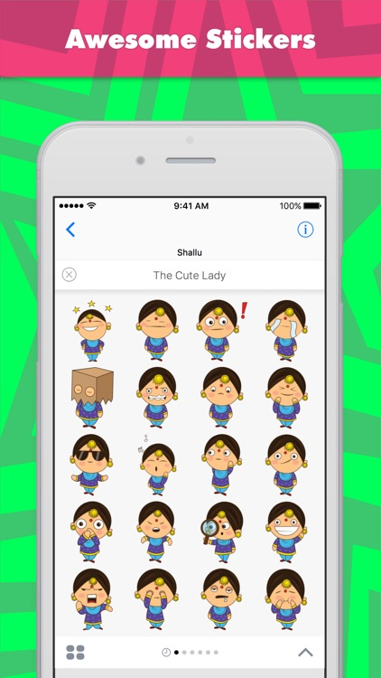 The Cute Lady stickers