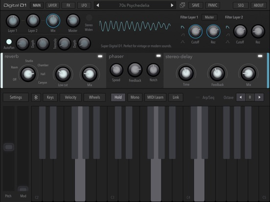 Screenshot #5 pour AudioKit Digital D1 Synth