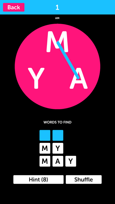 Pink Letters - Word Search Puzzle Game screenshot 1