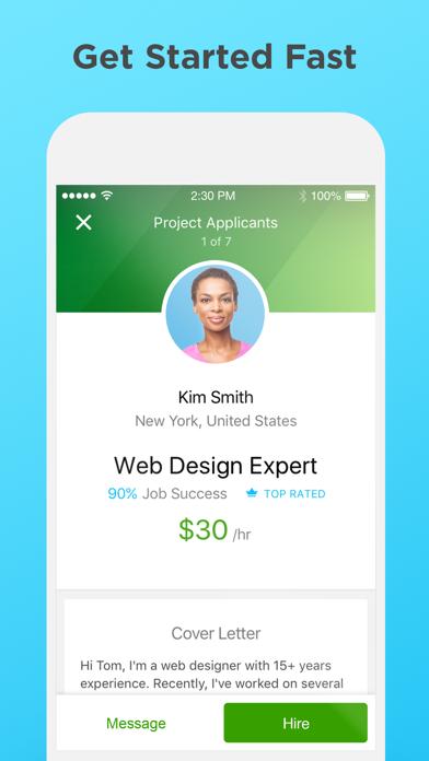 Screenshot 3 for Upwork's iPhone app'