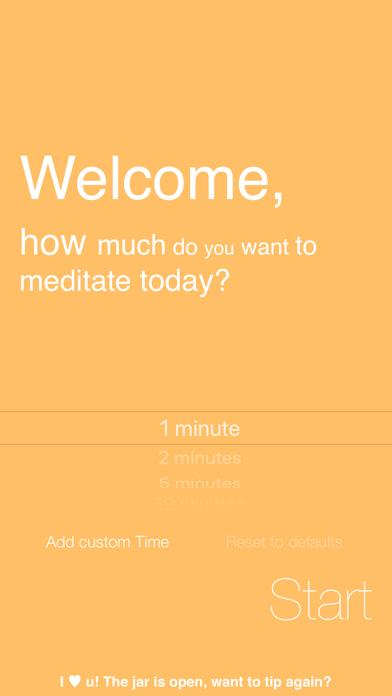 Omo, Simply Meditate screenshot one