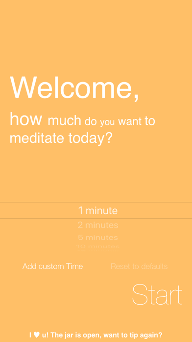 Omo, Simply Meditate screenshot one