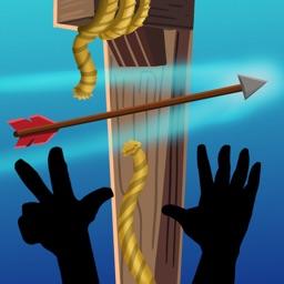 Arrow hunting gallows stickman
