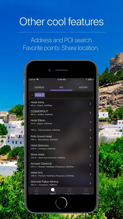 Greece Offline Navigation screenshot-4