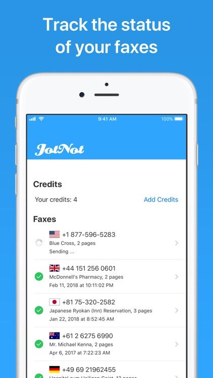 JotNot Fax screenshot-4