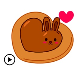 Chocolate Bunny & Love Sticker