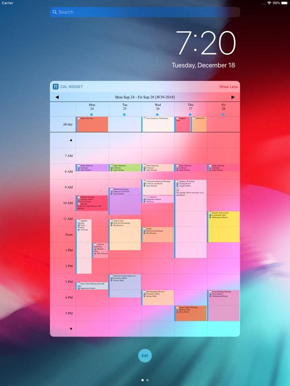 Screenshot #4 pour Week Calendar Widget Pro