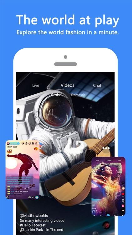 Facecast- Live Stream & Videos screenshot-0