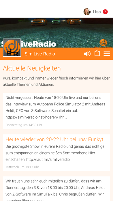 Sim Live Radio screenshot 1