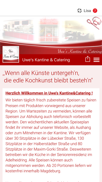 Uwe's Kantine & Catering screenshot one