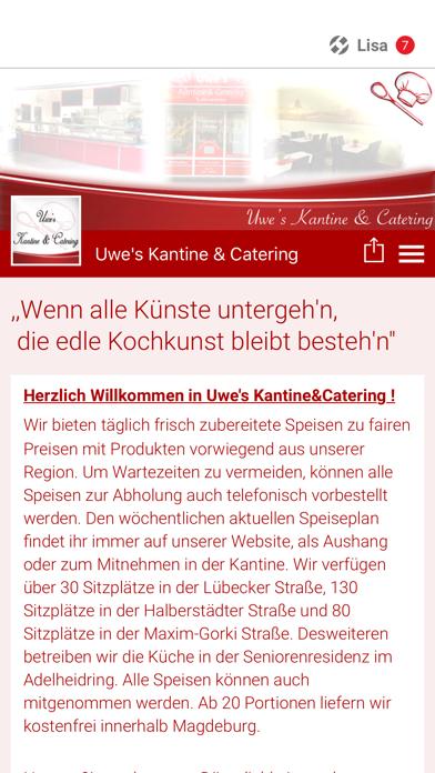 Uwe's Kantine & Catering screenshot one