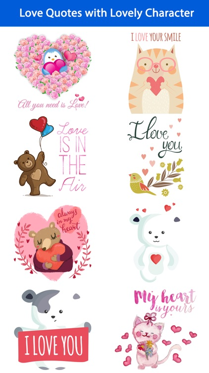 Love Quotes With Lovely Cute Animal Character By Sunhee Choi