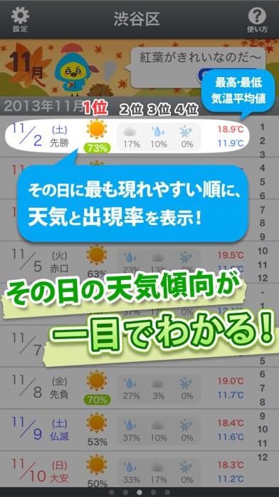 先の予定に!統計天気 screenshot1