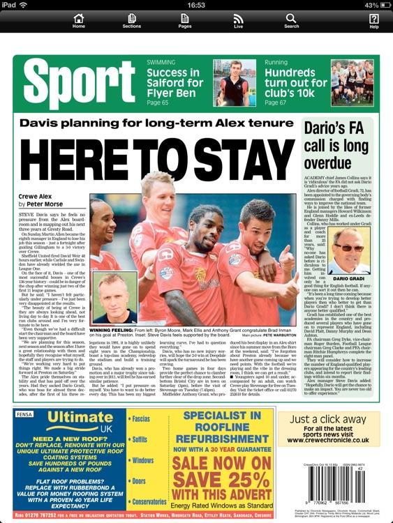 Crewe Chronicle newspaper screenshot-4