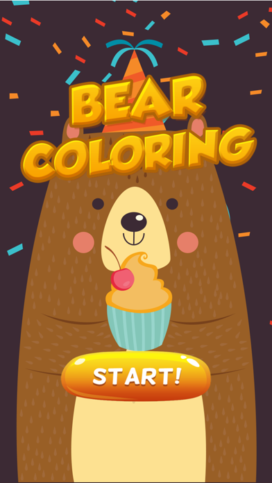 Bear Coloring and Painting Book Full screenshot one
