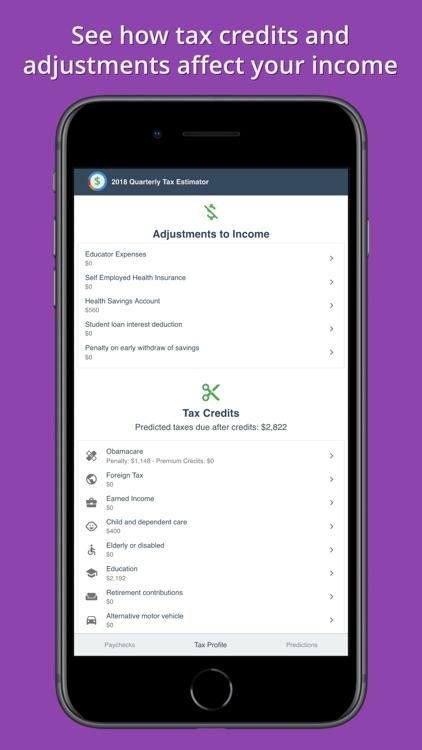 2018 Quarterly Tax Estimator screenshot-3