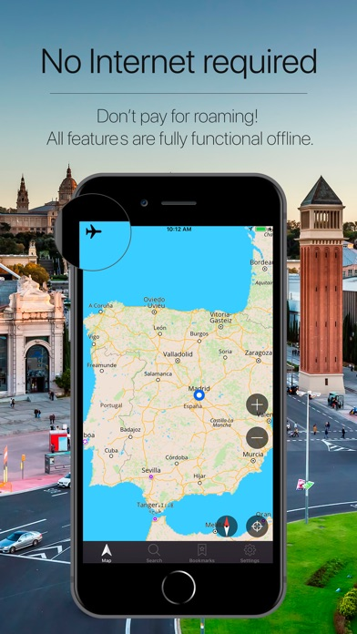 Spain Offline Navigation Screenshot