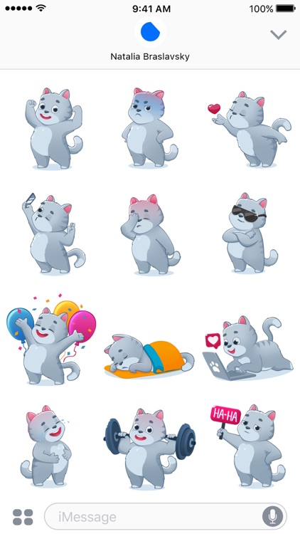 Smokey The Cat Stickers