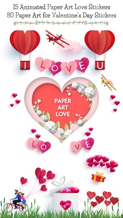 Animated Paper Art Love Pack screenshot 1