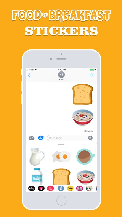 Food and Breakfast Stickers screenshot-3