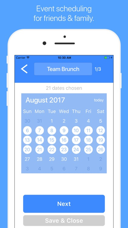 AirTime – Fast Event Scheduling for Groups