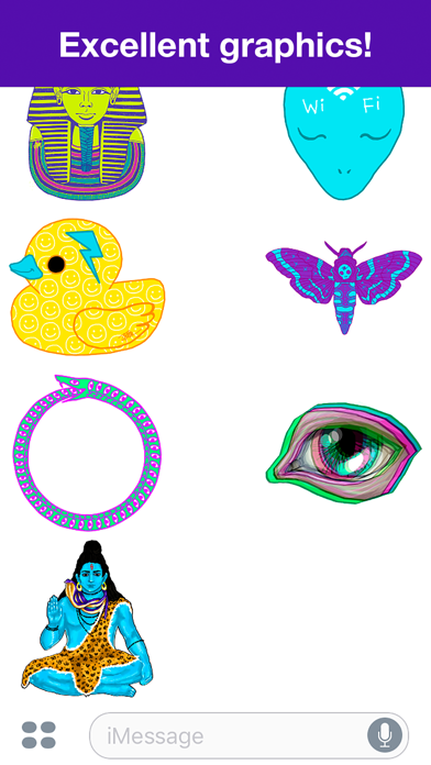 Psychedelic stickers