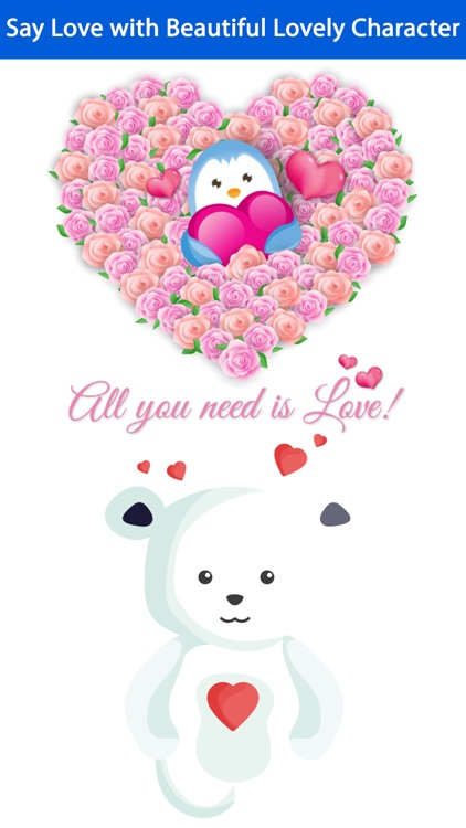 Love Quotes with Lovely & Cute Animal Character