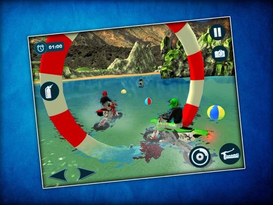 Waterbike Surfing Stunts 3D screenshot #3