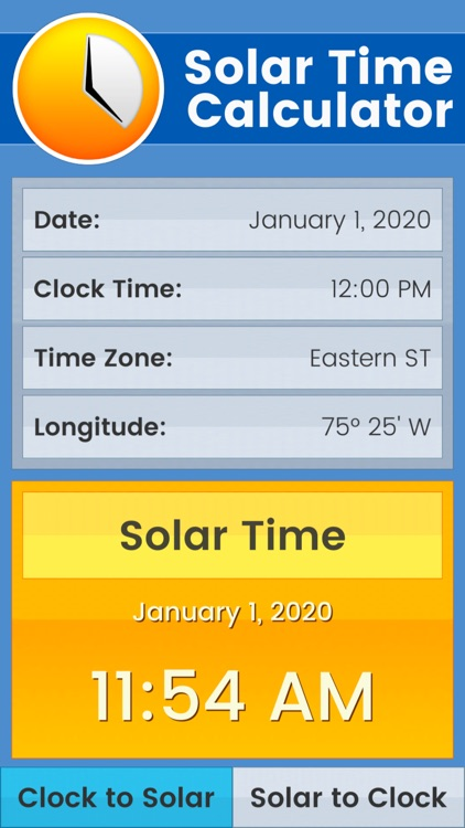 Solar Time Calculator by American Technical Publishers, Inc