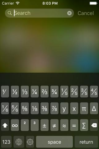 Fractions Keyboard - náhled