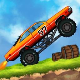 Jet Car Stunts on Dirt Track